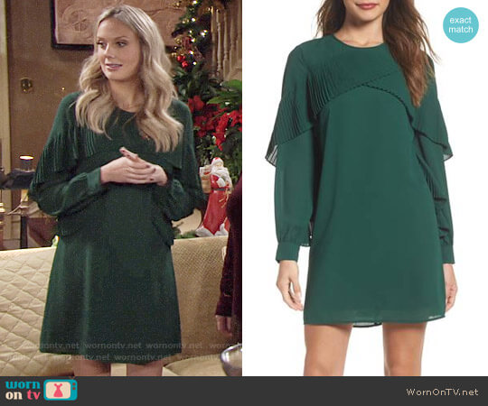 Chelsea28 Ruffle Shift Dress worn by Melissa Ordway on The Young & the Restless