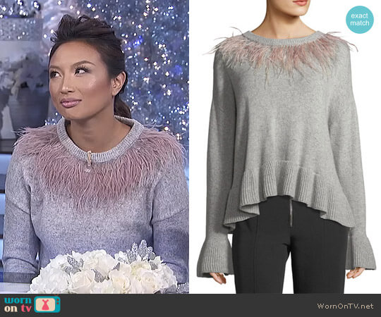 'Emira' Sweater by Cinq a Sept worn by Jeannie Mai  on The Real