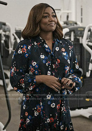 Daisy's floral long sleeved dress on Madam Secretary