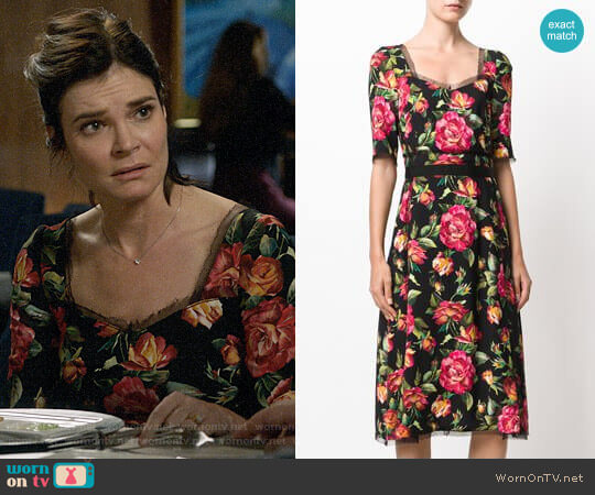 Dolce & Gabbana Floral Print Dress worn by Heather Hughes (Betsy Brandt) on Life in Pieces