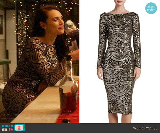 Dress the Population Emery Dress worn by Lena Luthor (Katie McGrath) on Supergirl