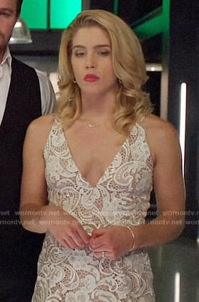 Felicity's wedding dress on Arrow