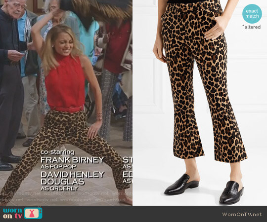Cropped Leopard-Print Pants by Frame worn by Nicole Richie on Great News