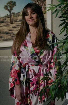 Gloria's watercolor floral robe on Modern Family