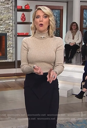 Megyn's gold turtleneck on Megyn Kelly Today