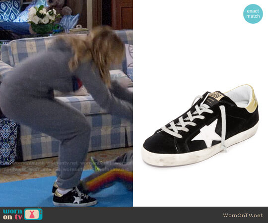 Golden Goose Superstar Velvet Sneakers worn by Candace Cameron Bure on Fuller House