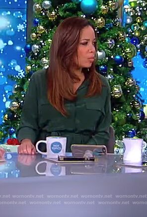 Sunny's green shirtdress on The View
