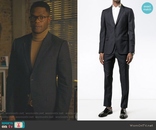 Dotted Suit by Gucci worn by Sam Adegoke on Dynasty