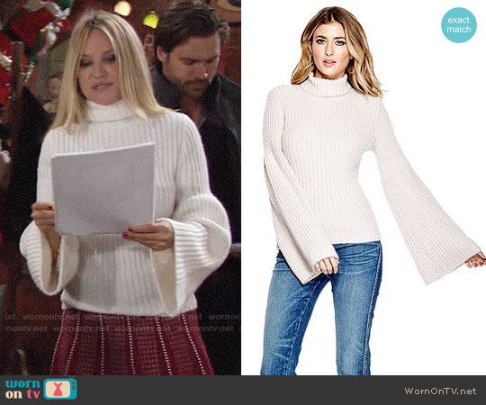 Guess Samira Voluminous Sweater Sweater worn by Sharon Case on The Young & the Restless