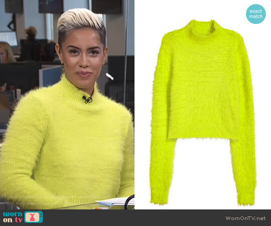 H&M Short Mock Turtleneck Sweater worn by Sibley Scoles  on E! News