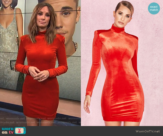'Ysabeau' Dress by House of CB worn by Catt Sadler on E! News