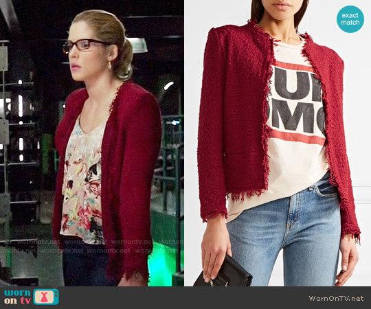 IRO Shavani Jacket worn by Emily Bett Rickards on Arrow