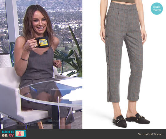 Button Side Crop Trousers by JOA worn by Catt Sadler  on E! News