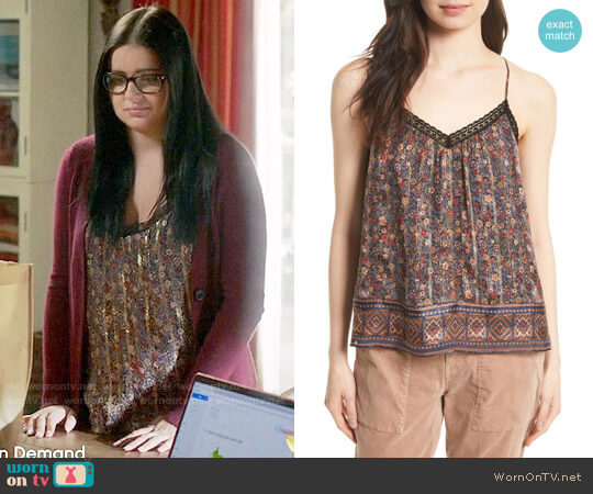 Joie Harriet Floral Silk Tank worn by Ariel Winter on Modern Family