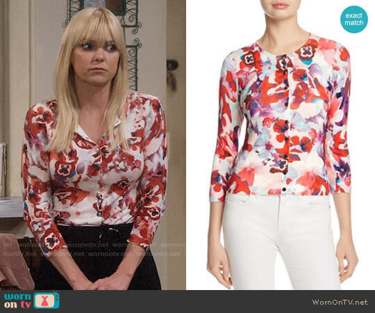Karen Millen Floral Cardigan worn by Christy Plunkett (Anna Faris) on Mom