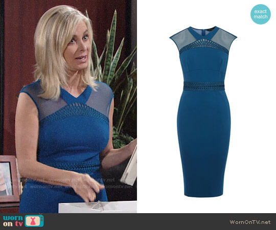 Karen Millen Lace & Mesh Dress worn by Ashley Abbott (Eileen Davidson) on The Young & the Restless