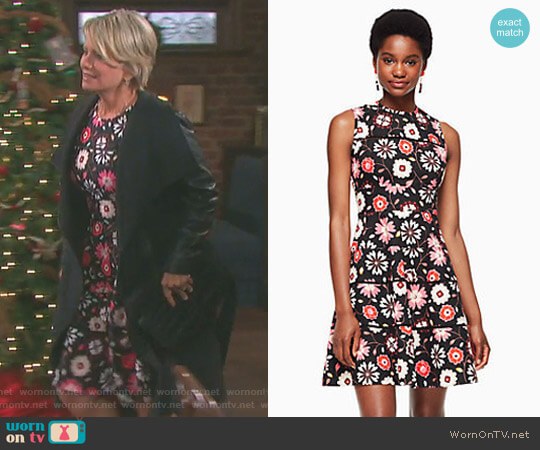 Casa Floral Poplin Dress by Kate Spade worn by Mary Beth Evans on Days of our Lives