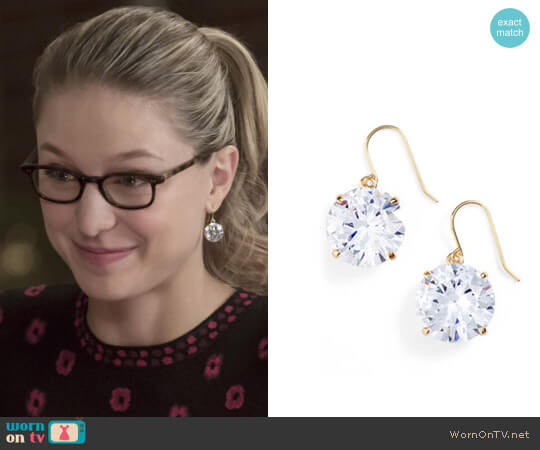 Kate Spade French Wire Drop Earrings worn by Melissa Benoist on Supergirl