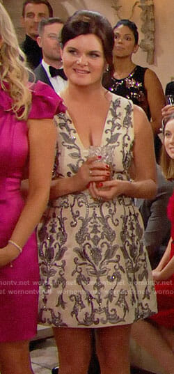 Katie's embellished Christmas dress on The Bold and the Beautiful
