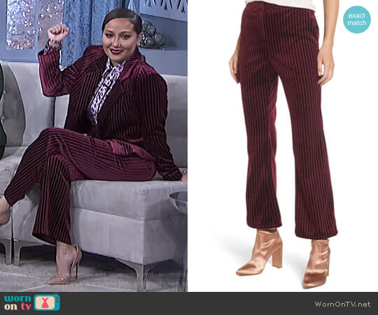 Velour Ankle Trousers by Leith worn by Adrienne Houghton (Adrienne Houghton) on The Real