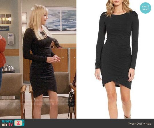 Leith Ruched Long Sleeve Dress worn by Anna Faris on Mom