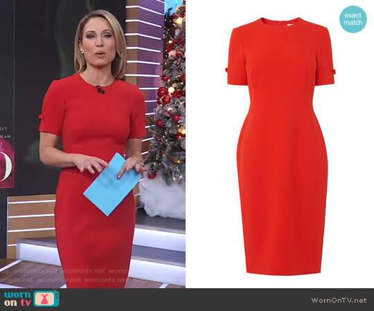 'Trinu' dress by LK Bennett worn by Amy Robach on Good Morning America