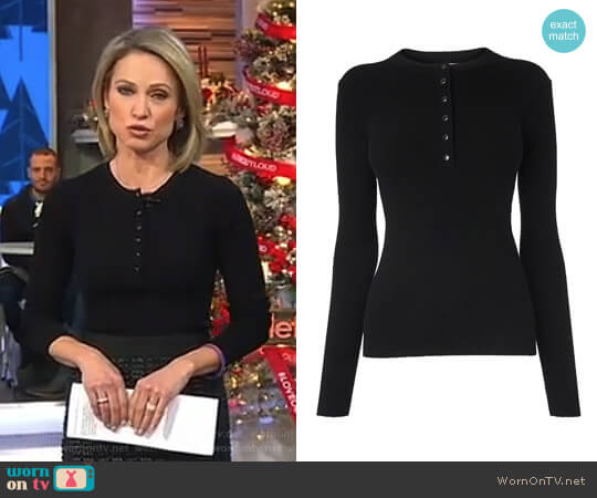'Pia' Top by L.K. Bennett worn by Amy Robach  on Good Morning America
