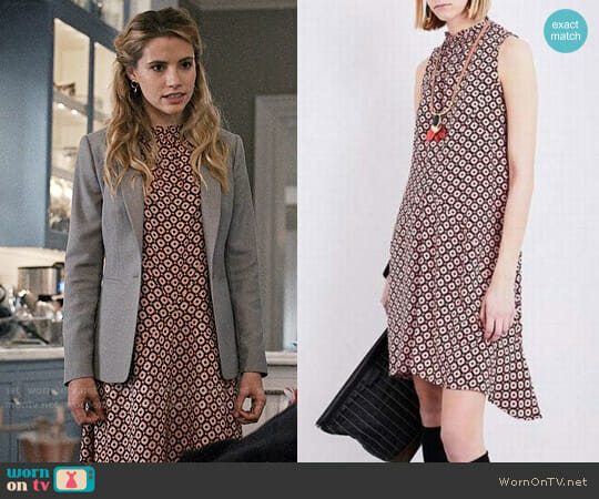 Marni Tracery Print Silk Dress worn by Stephanie 'Stevie' McCord (Wallis Currie-Wood) on Madam Secretary