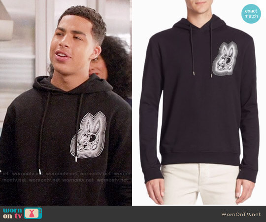 McQ Alexander McQueen Clean Cotton Hoodie worn by Andre Johnson Jr (Marcus Scribner) on Blackish