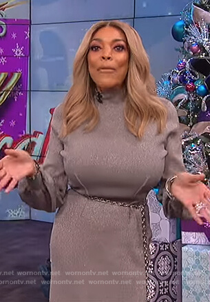 Wendy's metallic sweater dress on The Wendy Williams Show