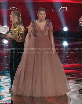 Miley Cyrus's pink gown on The Voice