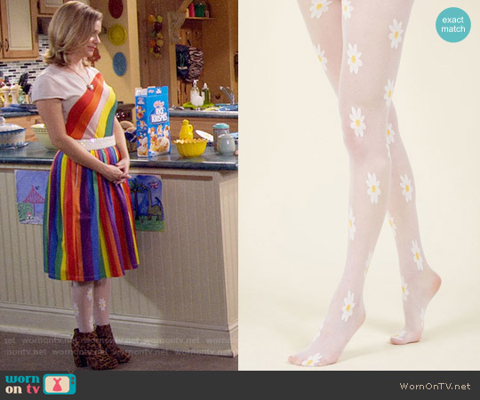 ModCloth A Great Day for Daisies Tights worn by Kimmy Gibbler (Andrea Barber) on Fuller House