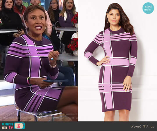 'Melina' Dress - Eva Mendes Collection by New York & Company worn by Robin Roberts on Good Morning America