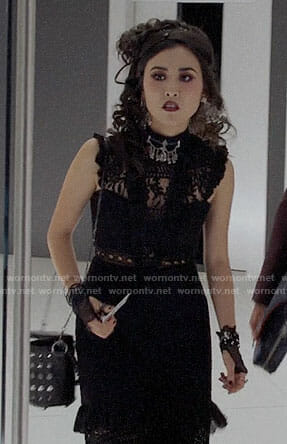 Nico's black lace dress on Marvel's Runaways