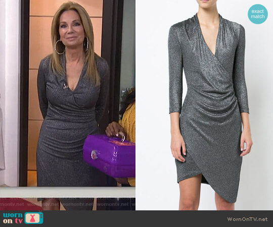 Plunge Asymmetric Dress by Nicole Miller worn by Kathie Lee Gifford on Today