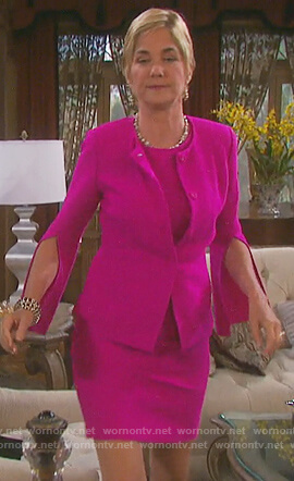 Eve's pink split sleeve jacket and dress on Days of our Lives