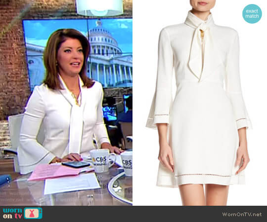 'Wynn' Dress by Rachel Zoe  worn by Norah O'Donnell  on CBS This Morning
