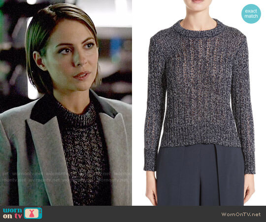 Rag & Bone Adira Marled Sweater worn by Willa Holland on Arrow