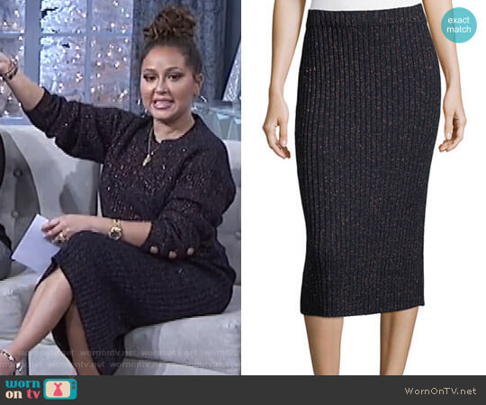 'Jubilee' Skirt by Rag & Bone worn by Adrienne Houghton  on The Real