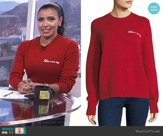 'Vicky' Sweater by Rag & Bone worn by Julissa Bermudez on E! News