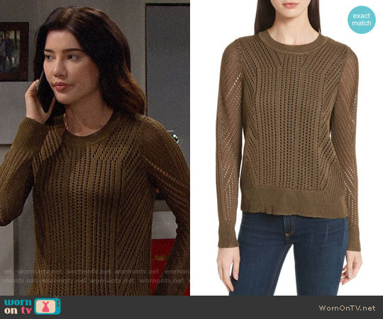 Rag & Bone Pamela Sweater worn by Steffy Forrester (Jacqueline MacInnes Wood) on The Bold & the Beautiful