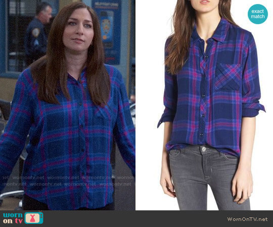 Rails Taitum Plaid Shirt in Navy Ultra Violet  worn by Chelsea Peretti on Brooklyn Nine-Nine