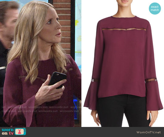Rebecca Minkoff Chava Top worn by Lauralee Bell on The Young & the Restless