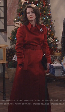 Karen's red satin coat on Will and Grace