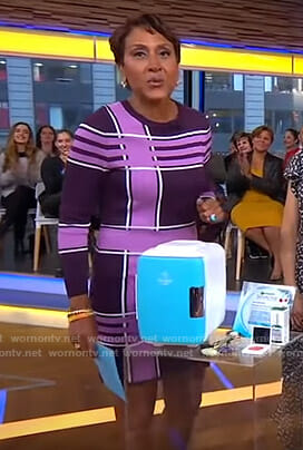 Robin's pink and purple knit dress on Good Morning America