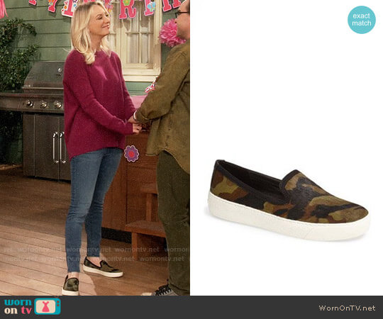 Sam Edelman Becker Camouflage Slip On Sneaker worn by Penny Hofstadter (Kaley Cuoco) on The Big Bang Theory