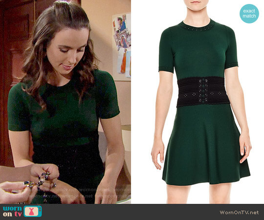 Sandro Brandy Dress worn by Ashleigh Brewer on The Bold & the Beautiful