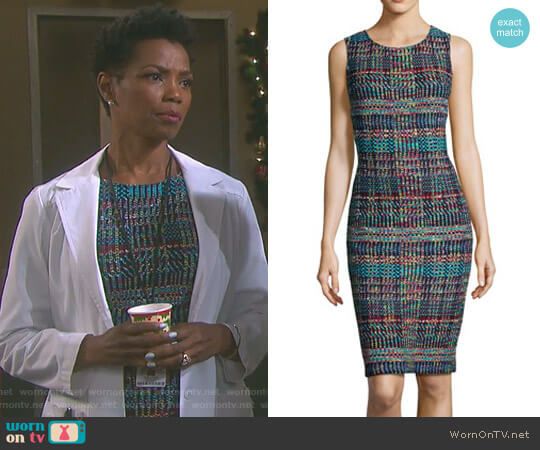'Dara' Dress by St. John worn by Vanessa Williams on Days of our Lives