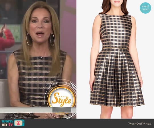 Jacquard Fit & Flare Dress by Tahari worn by Kathie Lee Gifford on Today
