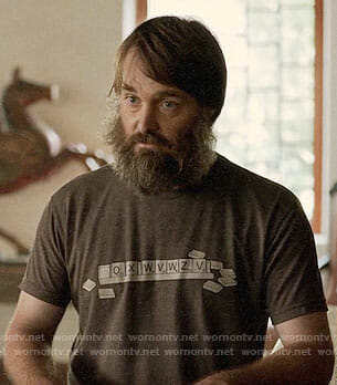 Tandy's scrabble t-shirt on The Last Man on Earth